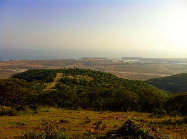 The view down to Khor Rori