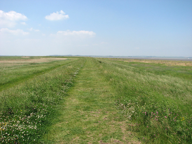 The Saxon Shore Way west of Seasalter