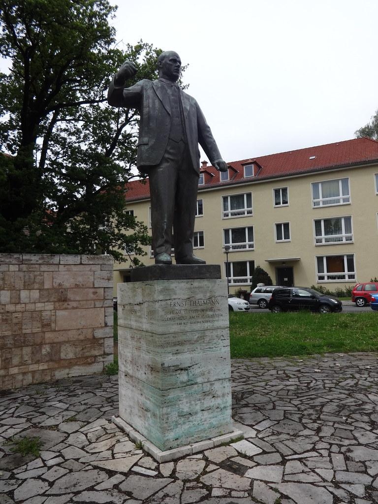 1958 Weimar Ernst Thälmann (1886-1944) von Walter Arnold/Siegfried Tschierschky Bronze Buchenwaldplatz in 99423