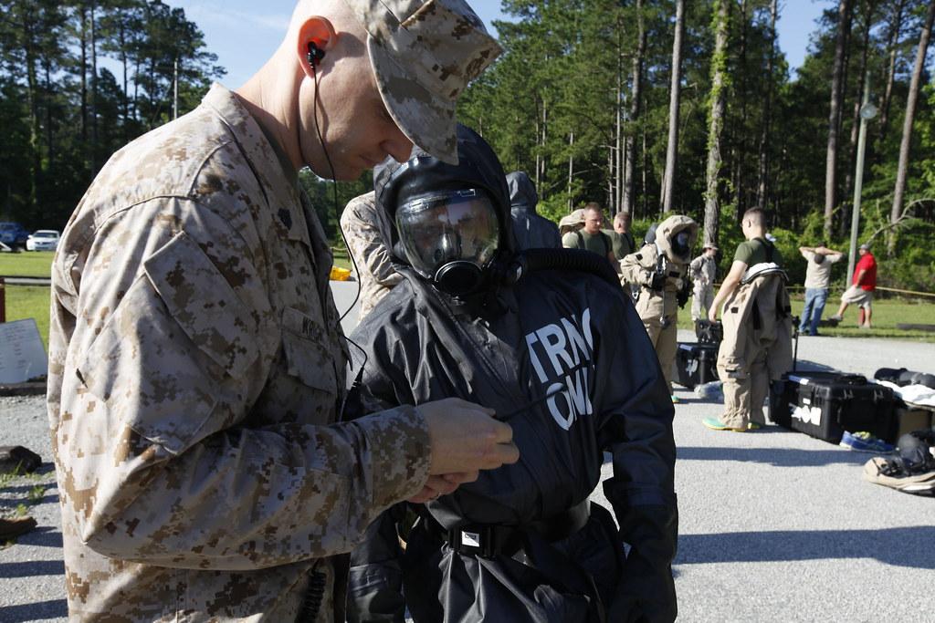 CBRN Marines respond to chemical warfare threat | Sgt  Jerem