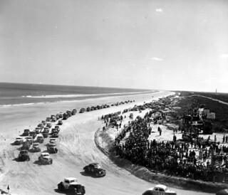 Racing at Daytona Beach, Florida