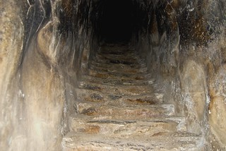 Within the cistern at Mycenae
