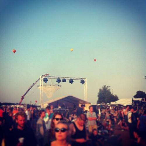 Balloons surfing the festival #rf13 #apollo   by Simon Fredslund