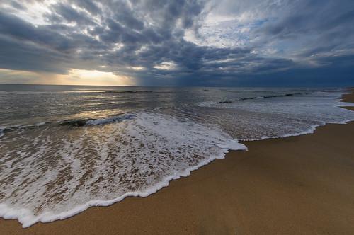 ocean summer clouds sunrise waves north northcarolina outerbanks atlanticocean carolinabeach explored