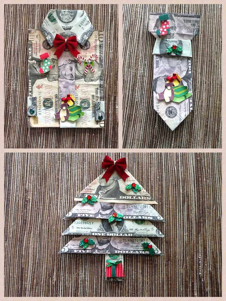 Real One Dollar Bill Origami Art Miniature CHRISTMAS TREE with ... | 1024x768