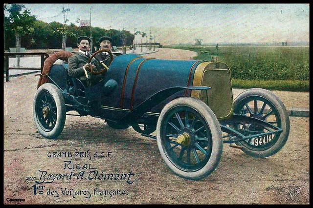 Grand Prix A.C.F. (1908) - RIGAL sur Bayard-Clément 1er des voitures françaises (4ème du classement général)