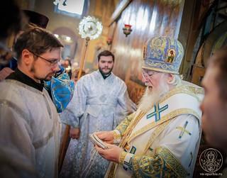 Литургия в Софийском соборе 550