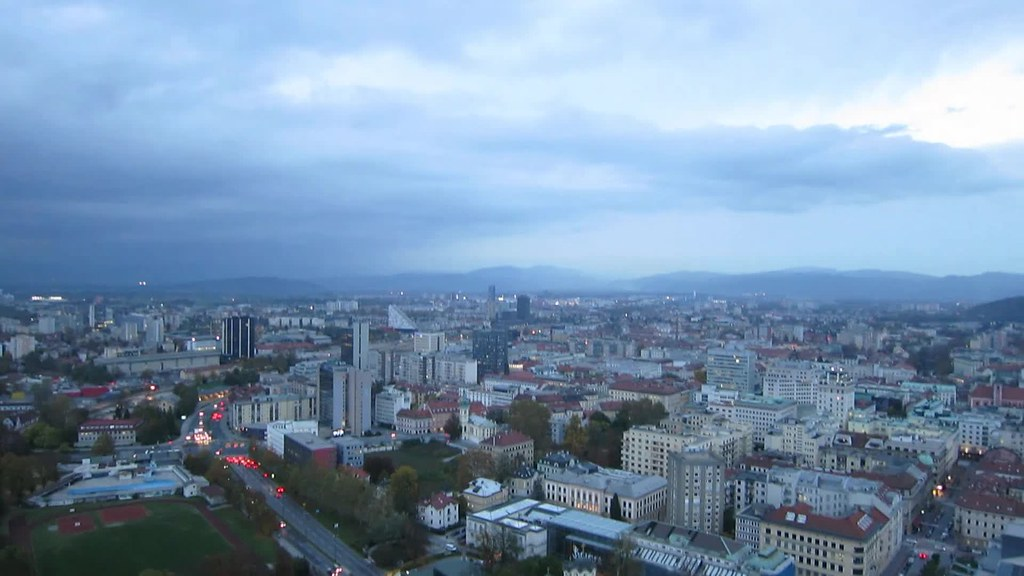 Day to Night - Kite Above Ljubljana