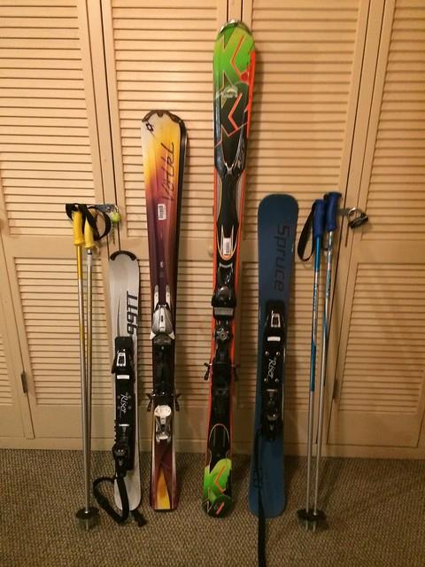水, 2014-02-05 20:01 - 一日だけ借りた長いスキーといつものスキーの比較