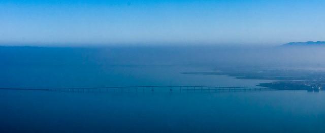 Air photos of SF to Reno -San Mateo Bridge