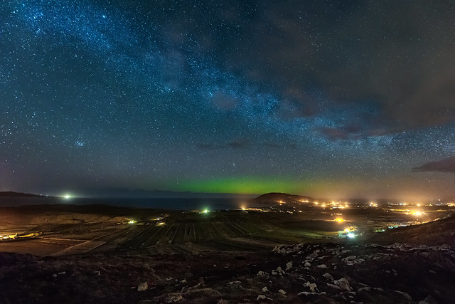 Mamore Gap Aurora & Milky Way - Donegal - Ireland