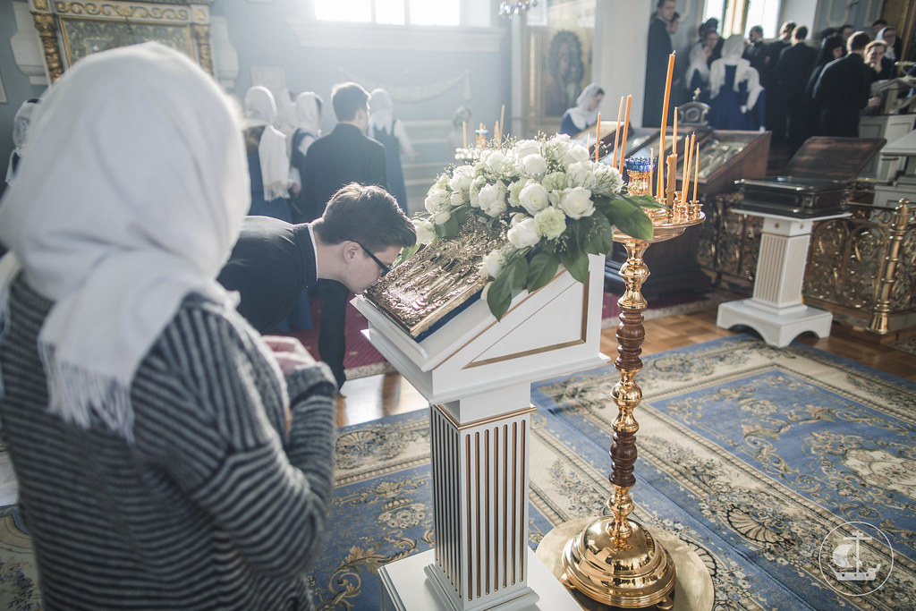 6 апреля 2017, Всенощное бдение накануне праздника Благовещения Пресвятой Богородицы / 6 April 2017, Vigil on the eve of  the Annunciation of the Theotokos