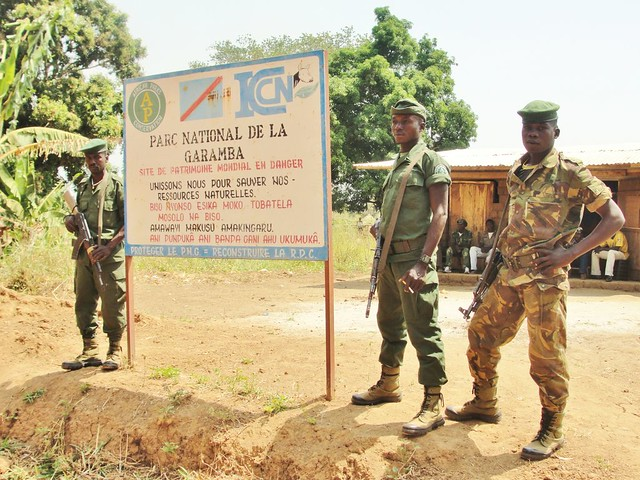 Garamba National Park sign