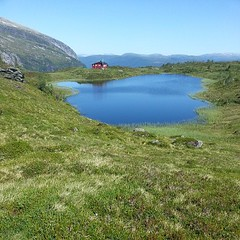 pretty little lake in the mountains north of #voss #norway, definitely worth the hike