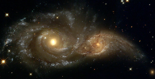 A Grazing Encounter Between Two Spiral Galaxies | by NASA on The Commons