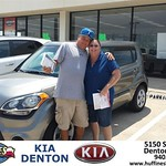 Thank you to Donald Baldwin on the 2013 Kia Soul from Andrew Gomes and everyone at Huffines KIA Denton!