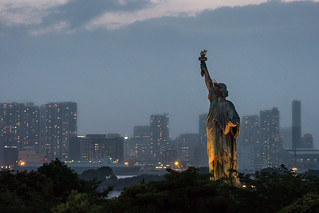 Statue of Liberty & Tokyo skyline