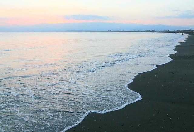 Quiet beach.