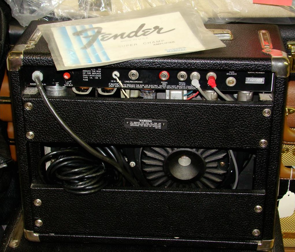 80s Fender Super Champ with Electro-Voice EVI-10 (1810-02