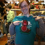 Sarah and funny moose shirt