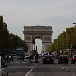 Arc de Triomphe from the Ave. des Champs Elysees