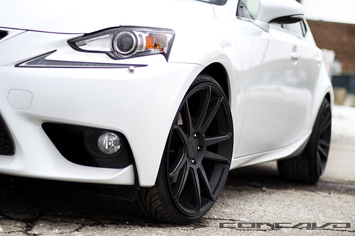 Lexus IS250 on Matte Black CW-S5 | by Concavo Wheels