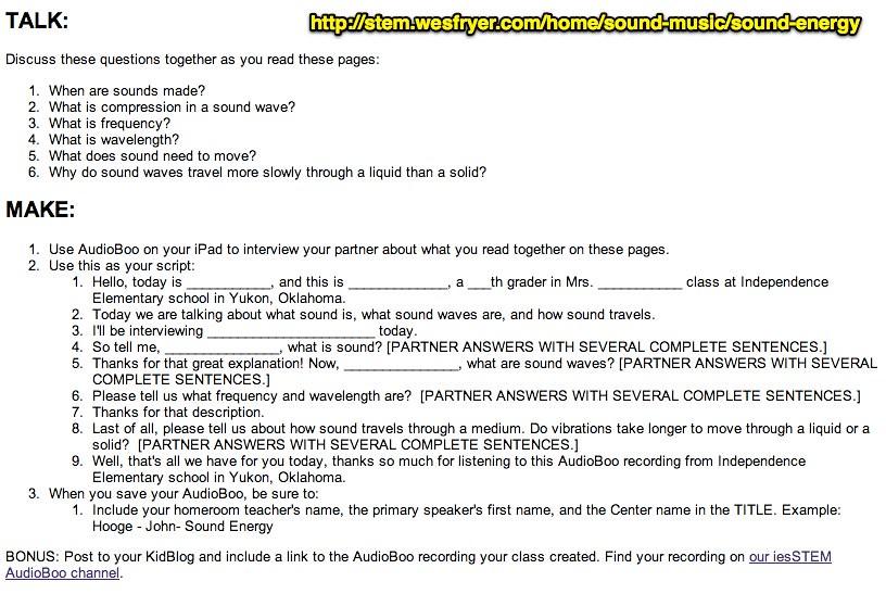 Sound Energy Radio Show Script   stem wesfryer com/home/soun…   Flickr