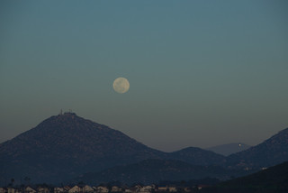 Mt Woodson Moon with Sunset Reflection Flickr