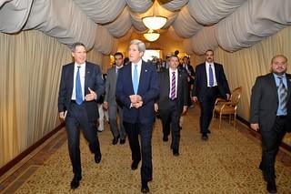 Secretary Kerry Meets With Staff of Embassy Kuwait City