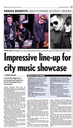 Impressive Line-up For City Music Showcase | by seancuttlefish