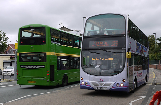 First Manchester 37423 (MX58DYT) and 37297 (MX07BUE)
