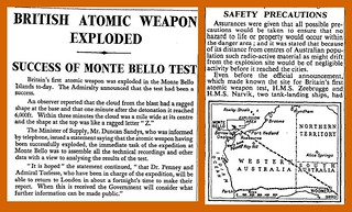 3rd October 1952 - UK Atomic Bomb | by Bradford Timeline