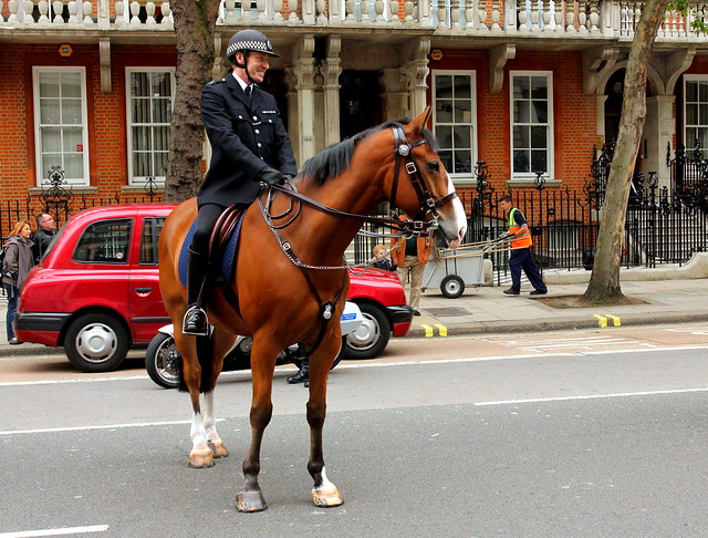 Policeman near Victoria station