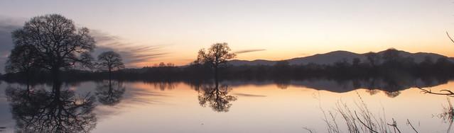 Malvern landscape over floods