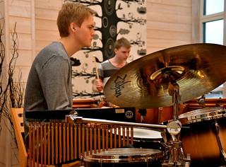 SYBB 2014-01-04 - Petter Midholm och Tobias Jutestål - Slagverkarna