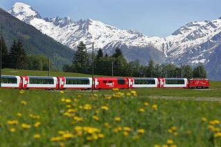 Glacier Express train   by Traveloscopy