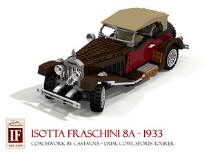 Isotta Fraschini 8A Dual-Cowl Sports Tourer 1933 | by lego911