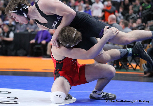152AAA - Semifinal - Alex Crowe (Shakopee) 45-1 won by decision over Riley Habisch (Buffalo) 39-6 (Dec 6-2)