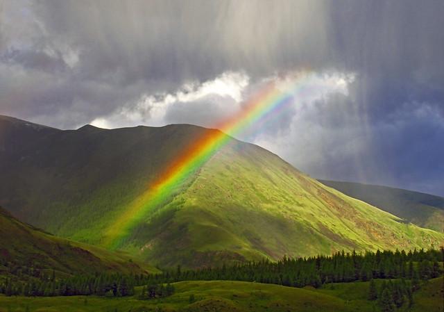 Rain & Rainbow. Altai mountains [Explored]
