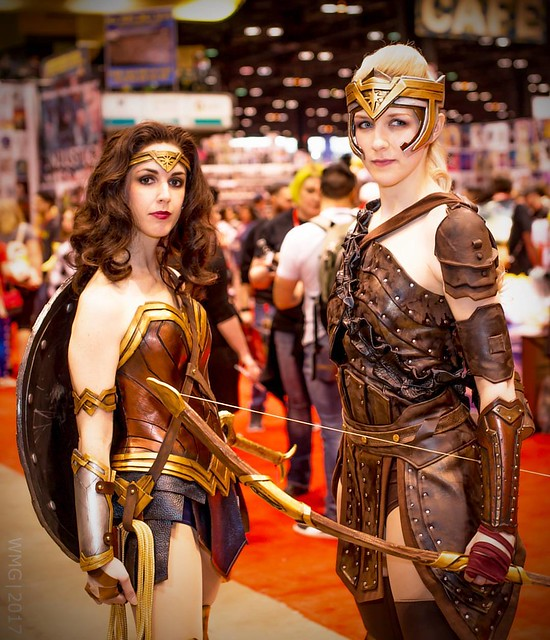 Well done #wonderwoman & #generalantiope #cosplay from this past weekend's #c2e2 #c2e22017