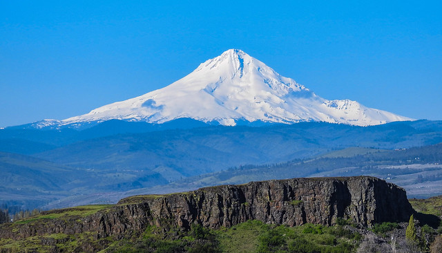 Mt. Hood from Horse Thief Butte - Washington State