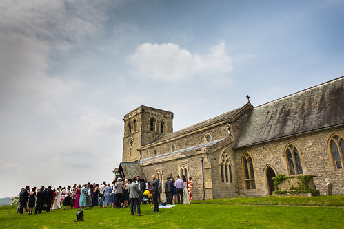 Wedding Photography - Guests Outside Church | by marklordphotography