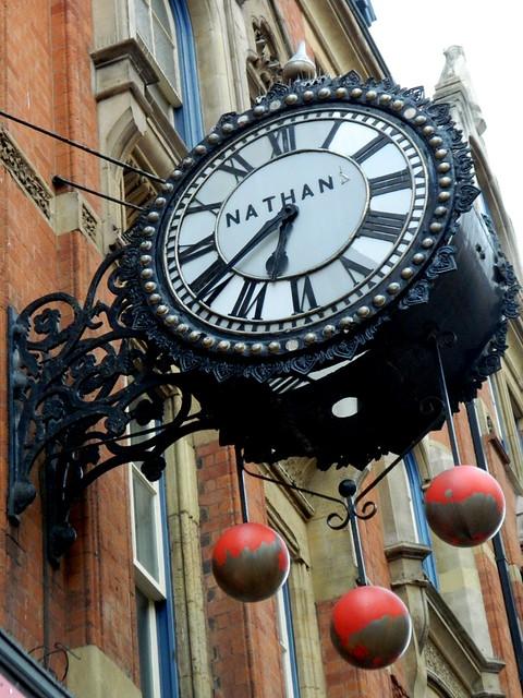 Nathan Clock, Corporation Street, Birmingham.