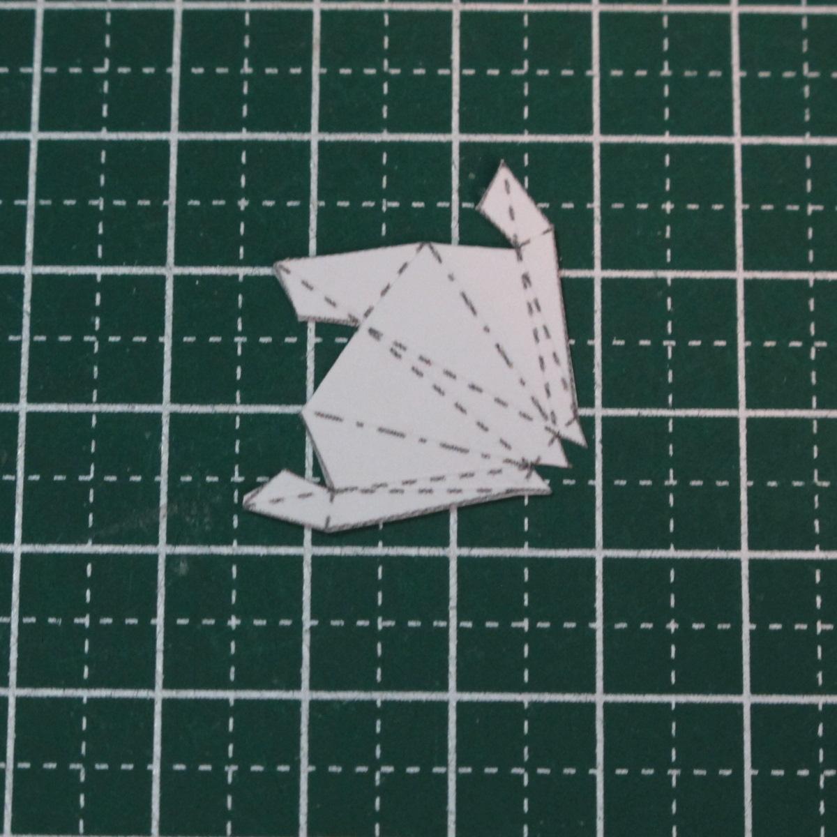 วิธีการทำโมเดลกระดาษเป็นสตอเบอรี่สีแดง 001