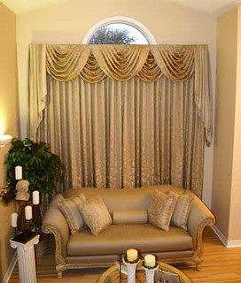 Swag Jabot Valance and Drapes