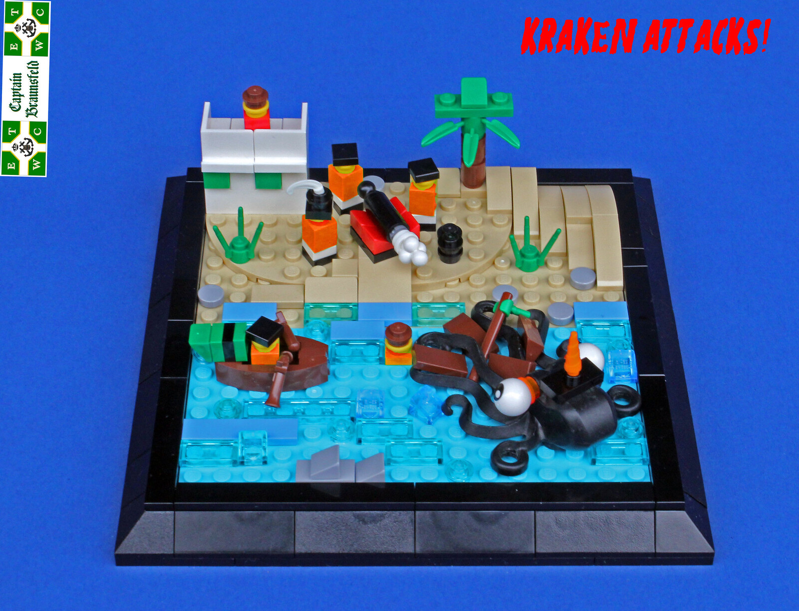 THE KRAKEN ATTACKS (custom built Lego model)