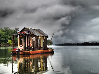 Storm Looms Over the Shantyboat | by Wes Modes