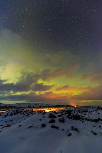 night spring landscape winter wideangle stars vacation canon6d holiday northernlights lights longexposure adventure auroraborealis travel scenic sky outdoors touristdestination iceland canon1635mmf4l snow clouds southernregion is