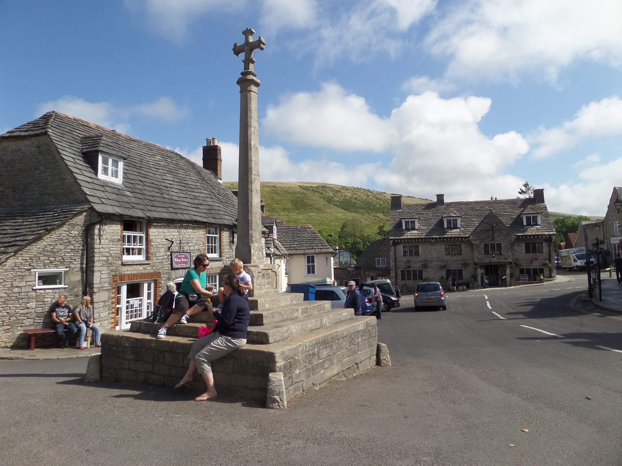 Market place, Corfe Castle village