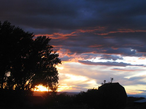 autumn sunset clouds colorado montrosecolorado